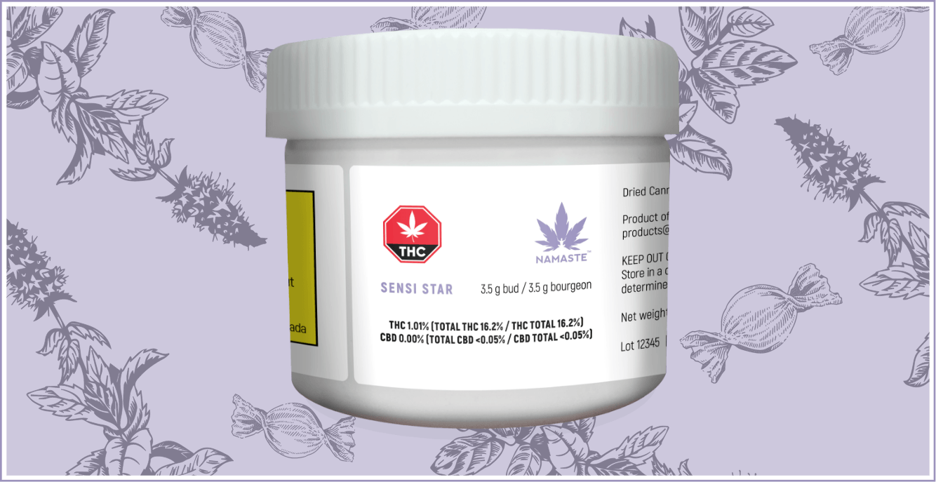 Namaste Sensi Star Cannabis Dried Flower - 3.5 g Container