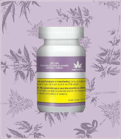 Namaste CBD Light Cannabis Oil Softgels