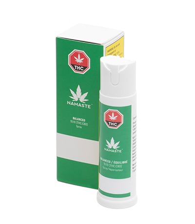 Namaste Balanced Cannabis Oral Spray - Bottle with Package