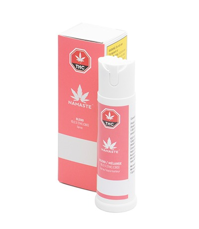 Namaste Blend Cannabis Oral Spray - Bottle with Package