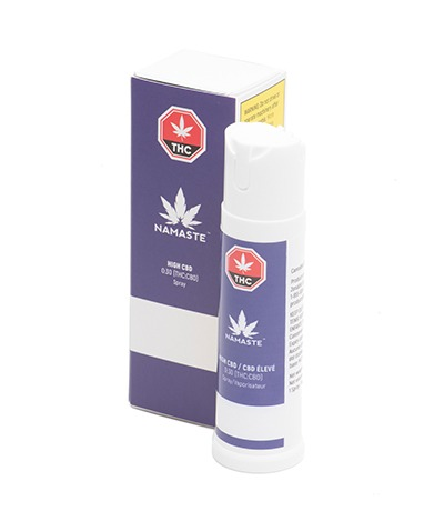 Namaste High CBD Cannabis Oral Spray - Bottle with Package