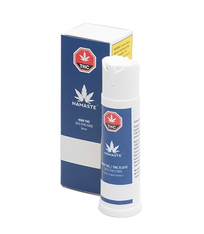 Namaste High THC Cannabis Oral Spray - Bottle with Package